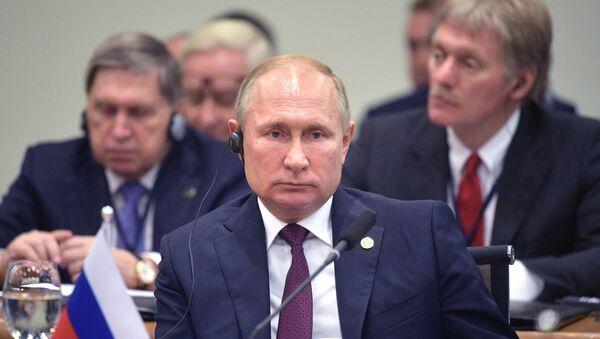 Predsednik Rusije Vladimir Putin na samitu BRIKS-a u Brazilu - Sputnik Srbija