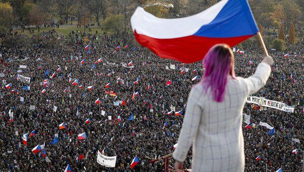Protest u Pragu - Sputnik Srbija