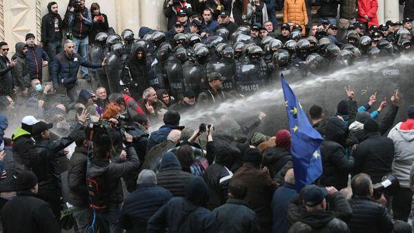 Protest u Tbilisiju  - Sputnik Srbija