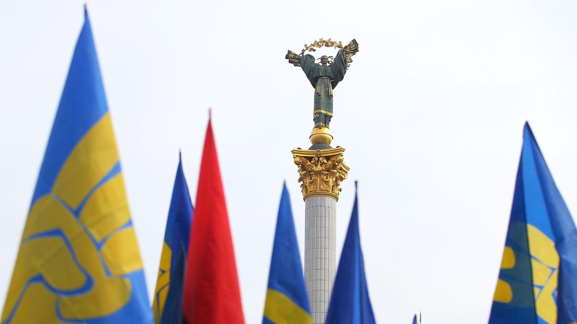 Zastave na Trgu nezavisnosti u Kijevu - Sputnik Srbija, 1920, 02.08.2021