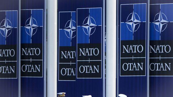 Zastave NATO-a ispred sedišta organizacije u Briselu - Sputnik Srbija