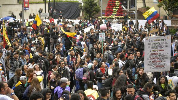 Генерални штрајк у Боготи, Колумбија. - Sputnik Србија