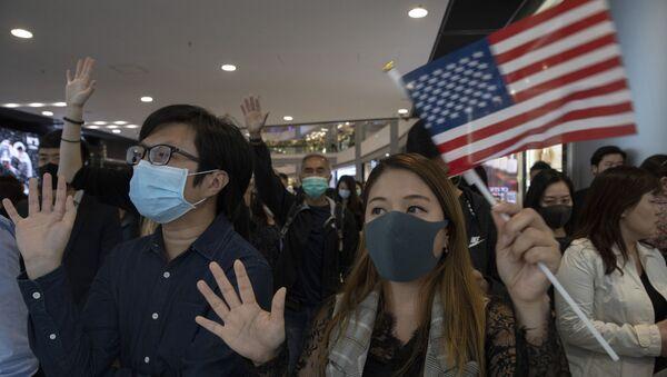 Демонстранти у Хонгконгу - Sputnik Србија