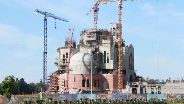 Izgradnja hrama Oružanih snaga Rusije - Sputnik Srbija
