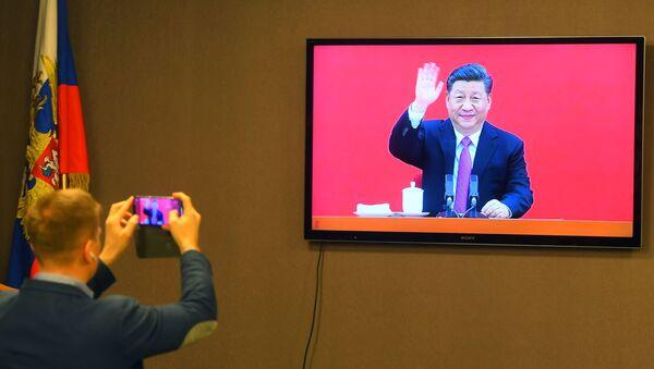 Кинески лидер Ци Ђинпинг поздравља путем телемоста покретање Силе Сибира - Sputnik Србија