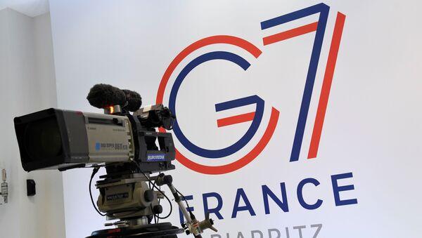Logo grupe G7 u francuskom Bijaricu - Sputnik Srbija