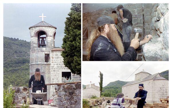 Obnova manastira Podmaine, hrama posvećenog Uspenju Presvete Bogorodice 1999. godine  - Sputnik Srbija