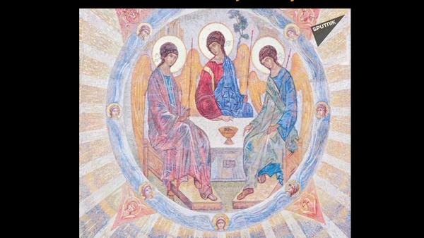 Mozaik za Glavnu crkvu oružanih snaga Rusije   - Sputnik Srbija