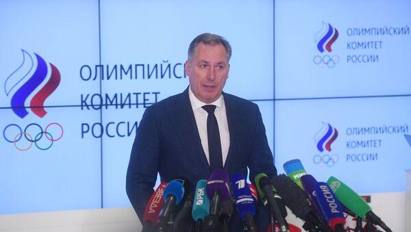 Председник Олимпијског комитета Русије Станислав Поздњаков говори на конференцији за медије у Москви - Sputnik Србија