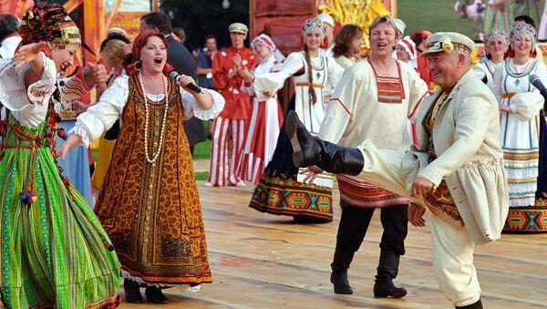 Јуриј Лушков на церемонији отварања шестог Великог московског фестивала пива - Sputnik Србија