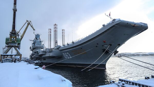 Ruski nosač aviona Admiral Kuznjecov - Sputnik Srbija