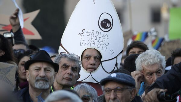 Protest Sardina u Rimu - Sputnik Srbija
