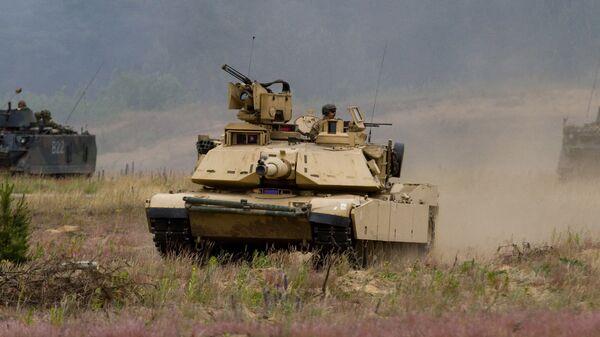 Američki tenkovi M1A2 Abrams na vojnim vežbama u Litvaniji - Sputnik Srbija