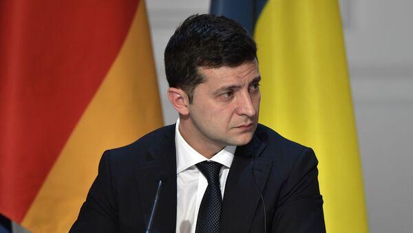 Председник Украјине Владимир Зеленски на заједничкој конференцији за медије након самита нормандијске четворке у Паризу - Sputnik Србија