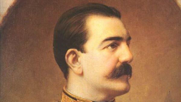 Steva Todorović, portert kralja Milana, 1883. Zbirka Muzeja grada Beograda. - Sputnik Srbija
