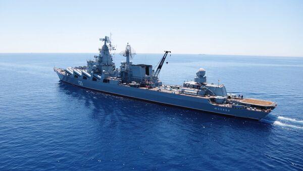 Raketna krstarica Moskva na vojnim vežbama na Sredozemnom moru - Sputnik Srbija