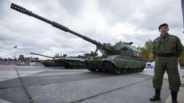 Samohodno artiljerijsko oruđe 2S35 na bazi T-90 Koalicija SV - Sputnik Srbija