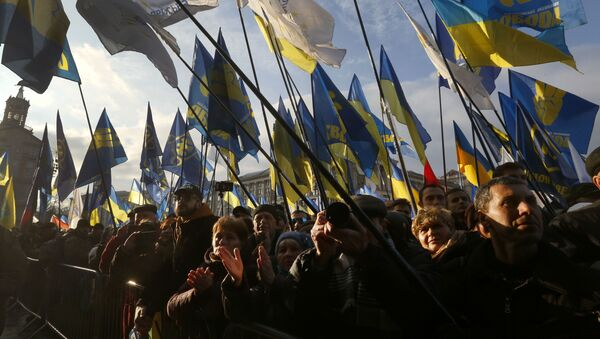 Demonstranti u Kijevu - Sputnik Srbija