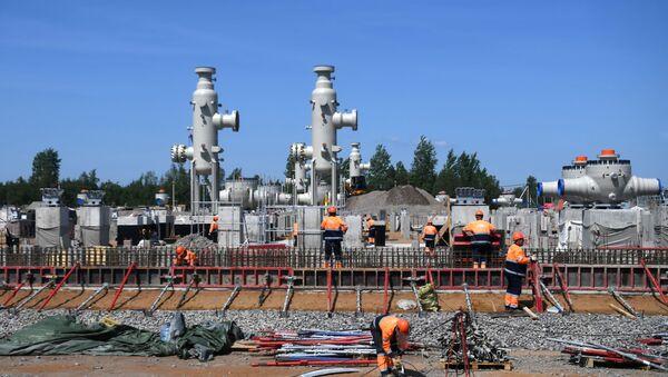 Izgradnja gasovoda Severni tok 2 u Lenjingradskoj oblasti - Sputnik Srbija