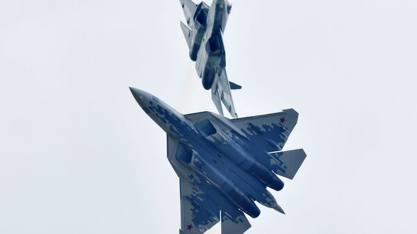 Руски вишенаменски авион пете генерације Су-57 - Sputnik Србија