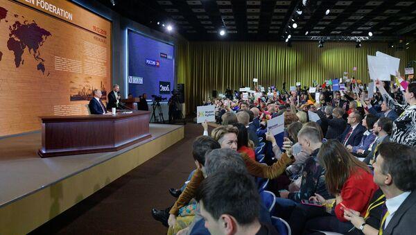 Годишња конференција за новинаре руског председника Владимира Путина - Sputnik Србија