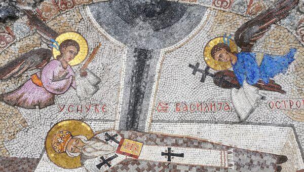 Freska Usnuće Svetog Vasilija Ostroškog u manastiru Ostrog - Sputnik Srbija