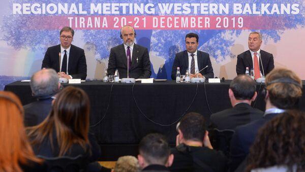 Lideri regiona na konferenciji za štampu u Tirani - Sputnik Srbija