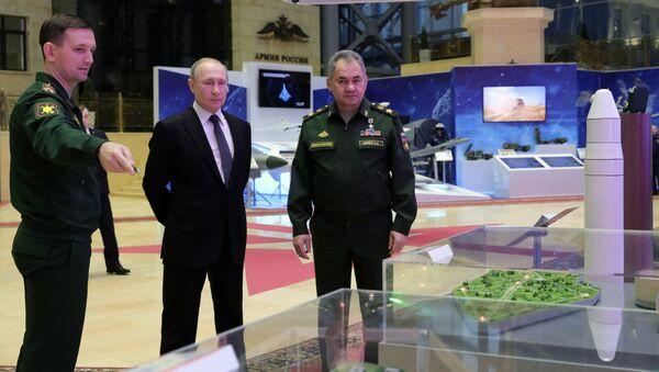 Владимир Путин и Сергеј Шојгу  - Sputnik Србија