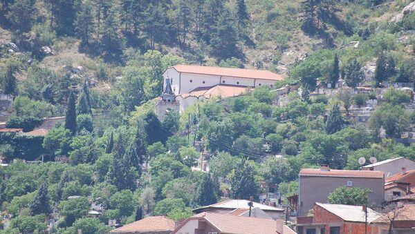 Црква Светког Спаса у Велесу где се налази масовна гробница жртава масакра 1945. године - Sputnik Србија
