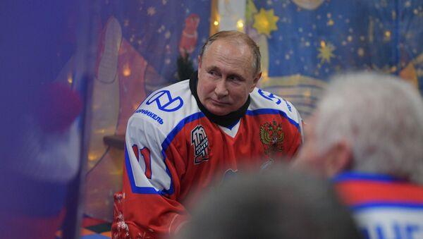 Predsednik Rusije Vladimir Putin na ledu - Sputnik Srbija