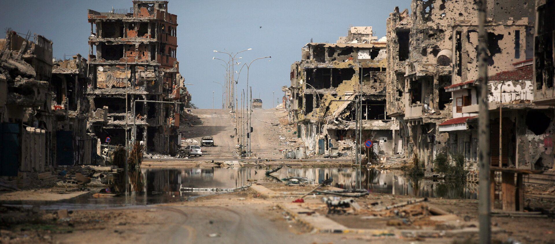 Oštećene zgrade u libijskom gradu Sirtu - Sputnik Srbija, 1920, 15.02.2021