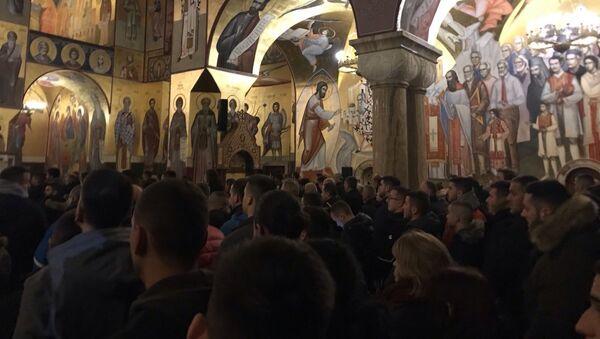 Liturgija u hramu Hristovog vaskrsenja u Podgorici - Sputnik Srbija