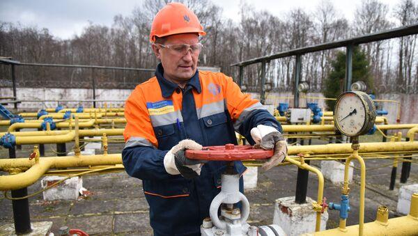 Gasna kompanija Ukrajine Ukrgazdobiča u Lavovskoj oblasti  - Sputnik Srbija