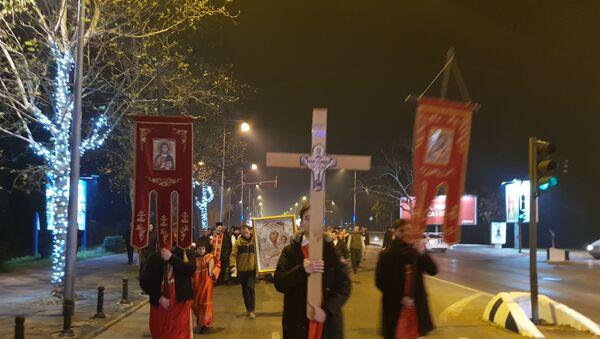 Молитвена шетња свештенства и верника  у Подгорици - Sputnik Србија