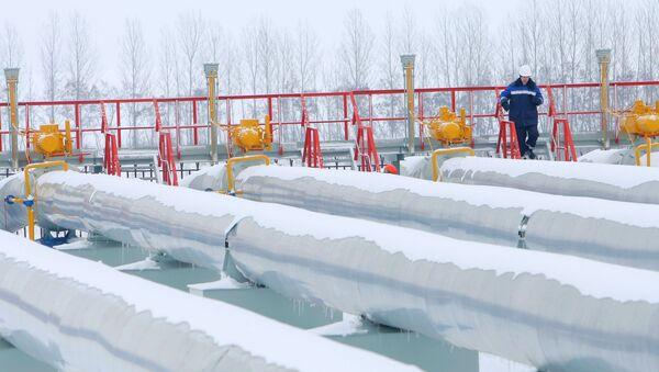 Гасна станица Суџа у Курској области преко које руски гас прелази у украјински гасно-транспортни систем  - Sputnik Србија