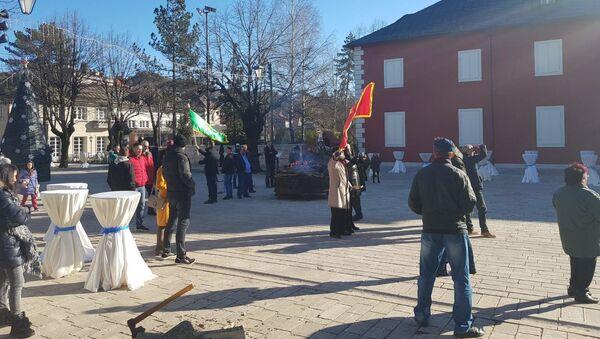 Okupljanje pripadnika takozvane Crnogorske pravoslavne crkve na Cetinju - Sputnik Srbija