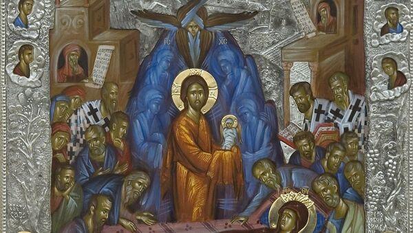 Svedočanstvo o majstorstvu studeničkih umetnika: ikona optočena srebrom    - Sputnik Srbija