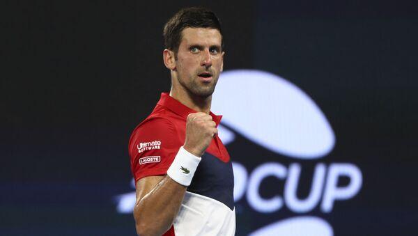 Novak Đoković na turniru u Brizbejnu - Sputnik Srbija