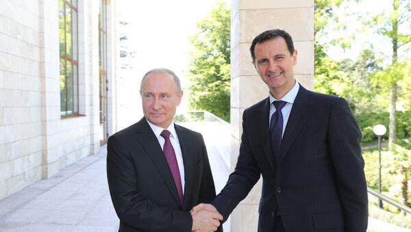 Predsednik Rusije Vladimir Putin i predsednik Sirije Bašar Asad - Sputnik Srbija