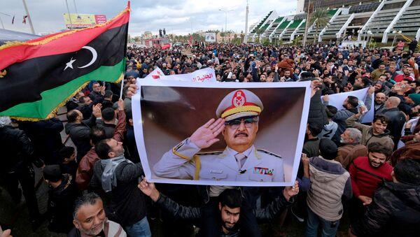 Libijci na protestu protiv dolaska turskih vojnih snaga u Libiju - Sputnik Srbija