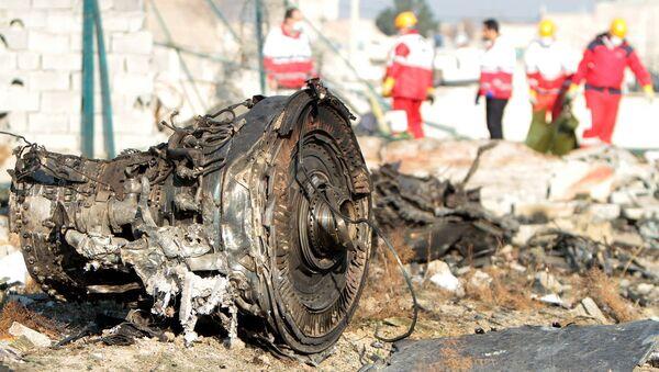 На месте крушения пассажирского лайнера Украины Boeing 737-800 - Sputnik Србија