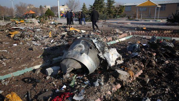 Spasioci na mestu pada ukrajinskog aviona Boing 737 u Iranu - Sputnik Srbija