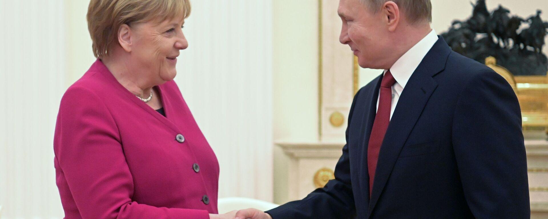Сусрет немачке канцеларке Ангеле Меркел и председника Русије Владимира Путина у Москви - Sputnik Србија, 1920, 22.07.2021