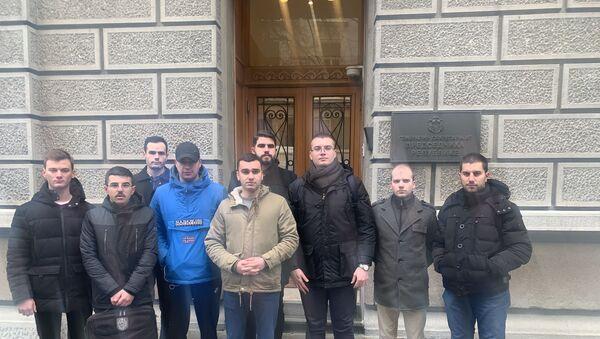 Studenti uručili zahteve srpskim vlastima u zgradi Predsedništva - Sputnik Srbija