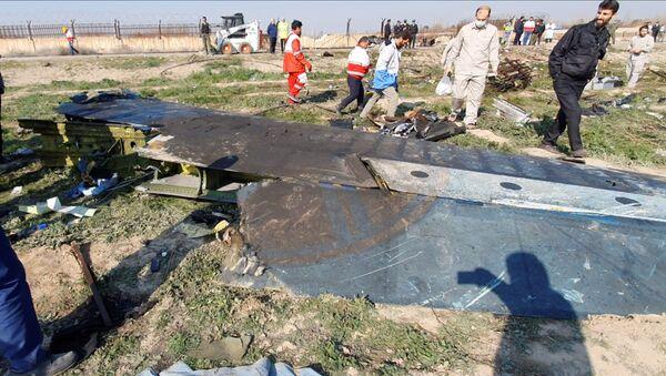 Spasioci na mestu rušenja ukrajinskog aviona u predgrađu Teherana - Sputnik Srbija