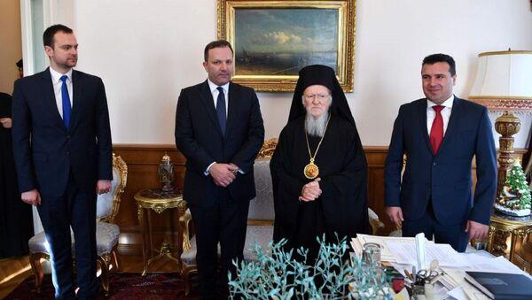 Зоран Заев у посети Вартоломеју - Sputnik Србија