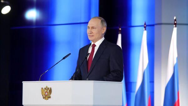 Обраћање руског председника Владимира Путина пред Федералном скупштином - Sputnik Србија
