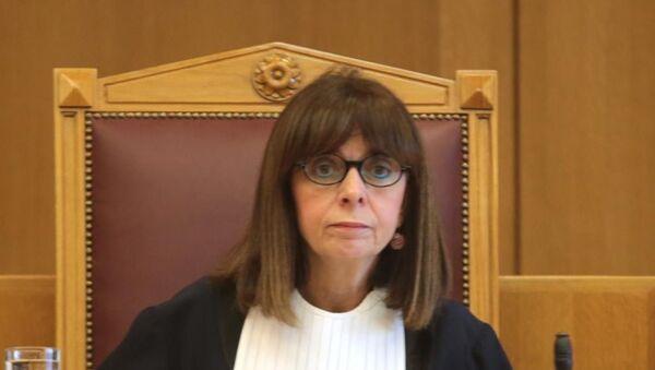 Судија и председник Државног савета Грчке Катерини Саклеропулу  - Sputnik Србија
