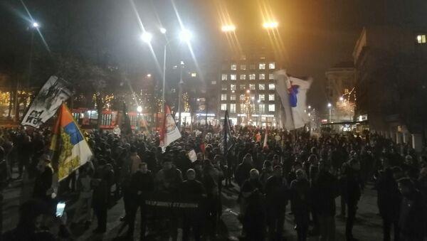 Протест против спорног црногорског закона у Београду. - Sputnik Србија