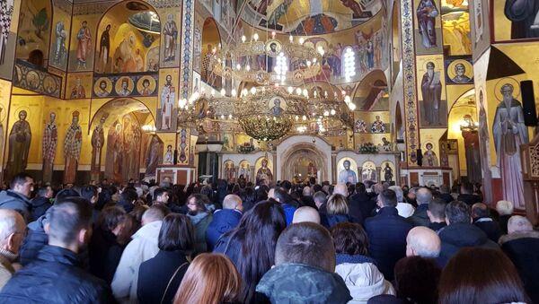 Liturgija u Sabornom hramu u Podgorici - Sputnik Srbija